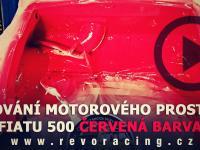 Garage REVORACING vol. 8 lakování motorového prostoru Fiat 500 červená barva