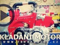 Garage REVORACING vol. 9 skládání motoru a příprava na montáž 5kvaltu do Fiatu 500