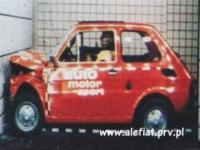 CRASH TEST FIAT 126 Z ROKU 1976